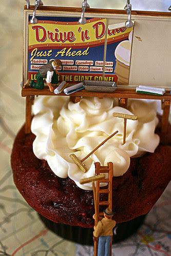 Billboard Painting Red Velvet Cupcakes