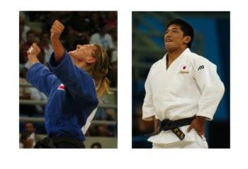 As expressões de triunfo (à esquerda) e de orgulho (à direita) são distintas