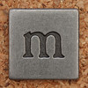 Pewter Lowercase Letter m