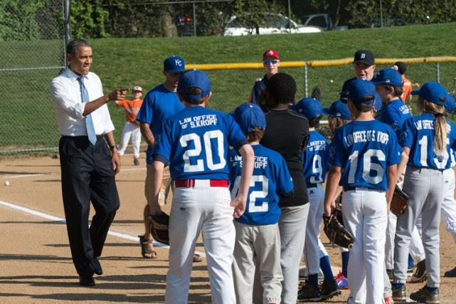 Barack Obama a assisté à un match de... (ARCHIVES AFP)