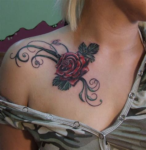 tattoos design ideas attractive rose tattoo