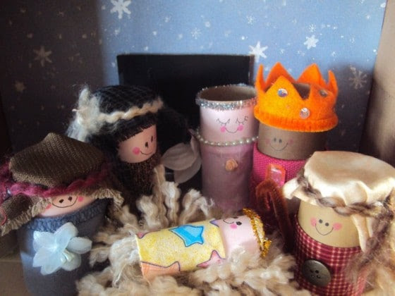 toilet roll nativity set - christmas craft