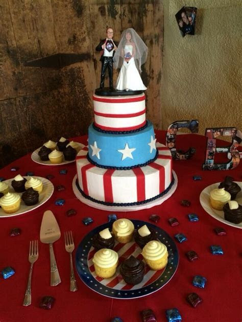 The Captain America Wedding Cake.   Captain America