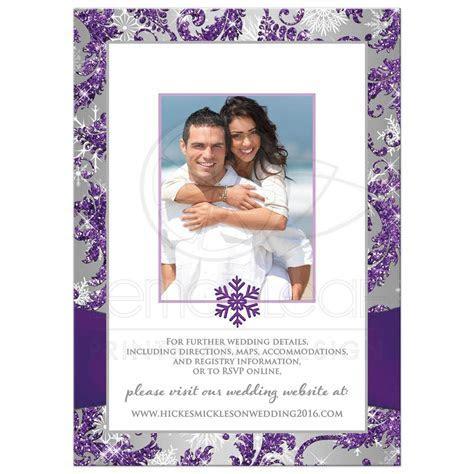 Winter Wonderland PHOTO Wedding Invitation   Purple