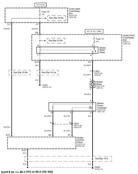 Reliable wiring schematic for AC/heat blower motor system