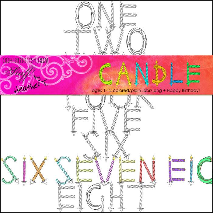 Heather Taylor, Candle Wordart Kit