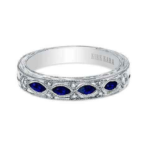 Kirk Kara 18K White Gold Dahlia Diamond & Sapphire Wedding
