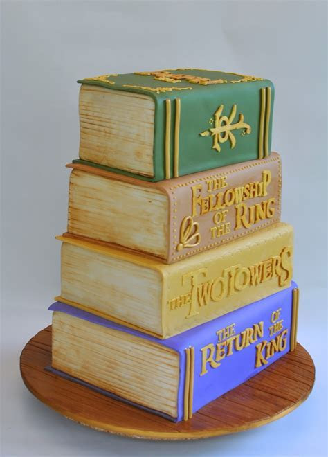 One cake to rule them all: a Lord of the Rings wedding cake