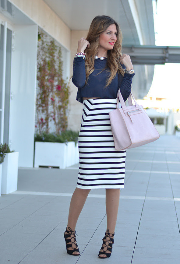 25 trendy midi skirts outfits  pretty designs