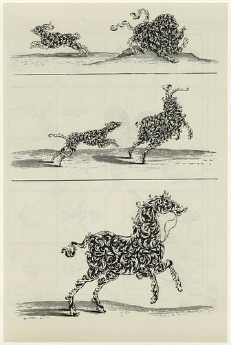 Animals shaped with ornamental foliage. Wolfgang Hieronymus von Bommel - about 1660 (pub 1894)