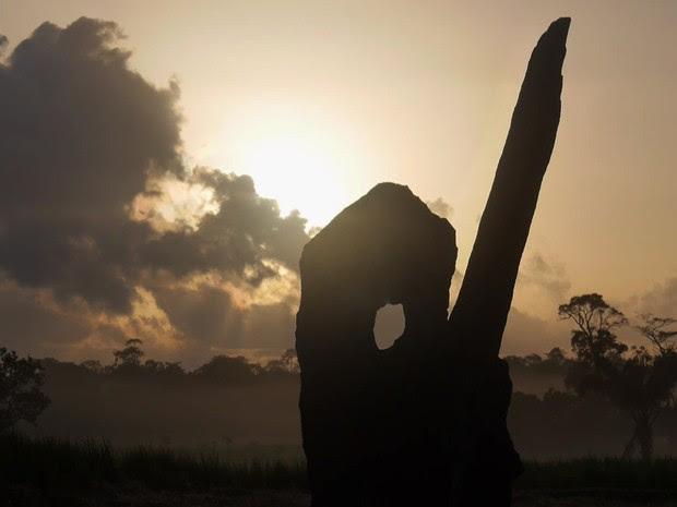 O observatório que ficou conhecido como 'Stonehenge da Amazônia', no Amapá (Foto: BBC)