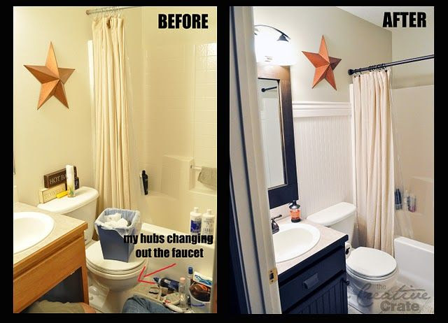 Awesome bathroom makeover...for REALLY cheap!