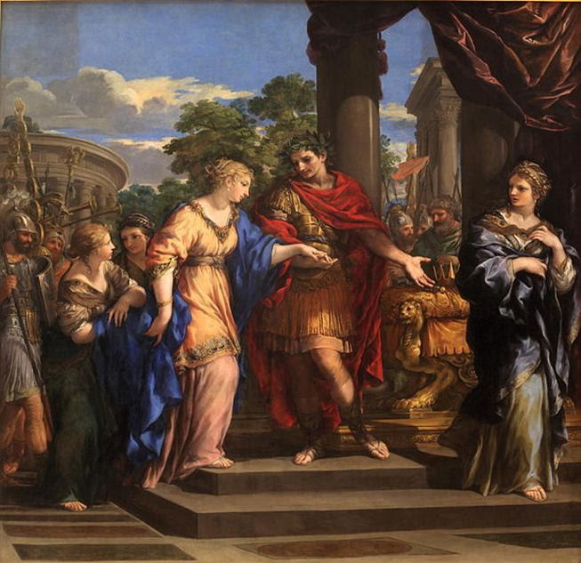 Ficheiro: César dando a Cleópatra o trono do Egito-Pietro de Cortone-MBA Lyon A53-IMG 0355.jpg