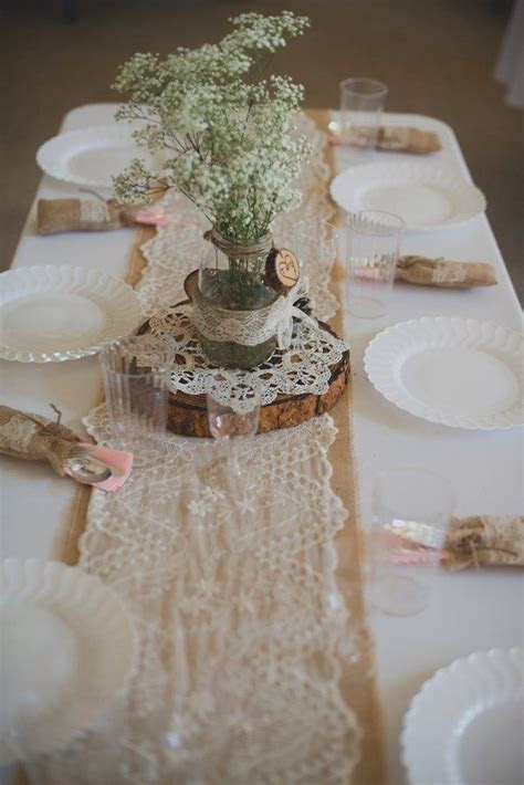 Rustic table setting   Rustic Wedding Inspirations