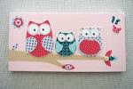 Baby girl room owl canvas Decor picture & wall by LittleMiine