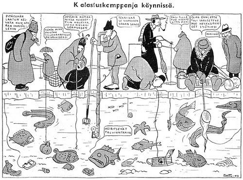 Kalastuskampanja käynnissä - Tanttu 1943