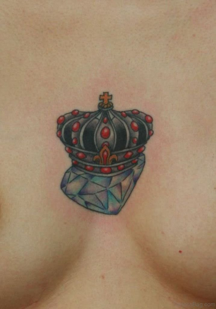 74 Marvelous Diamond Tattoos On Chest