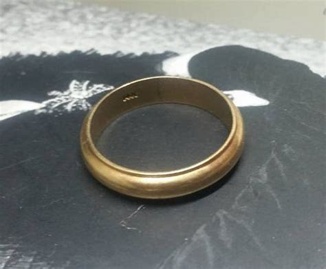 1970s 14K Gold Mens Vintage Wedding Band 1970s Wedding