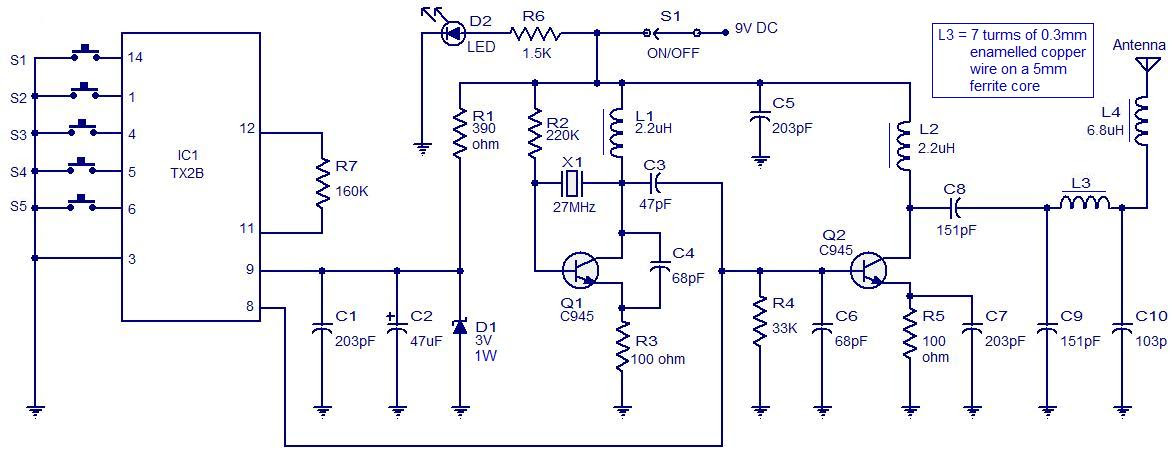 remote control car circuit diagram pdf circuit diagram Proximity Circuit Intercom Circuit