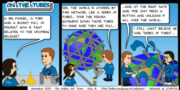 fedora webcomic: tubes