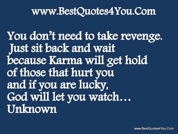 Karma Quotes Revenge. QuotesGram