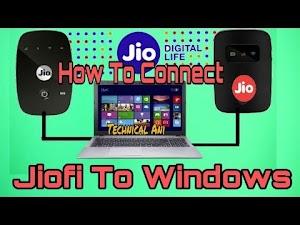How to connect Jiofi to Windows PC|Windows7||Windows XP||Windows8||Windows10
