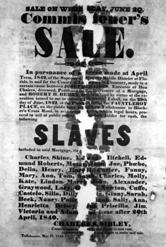 Advertisement of slave sale: Leon County, Florida