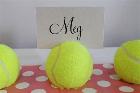 DIY Tennis Ball Placecard Holders Tutorial   Polka Dot Bride
