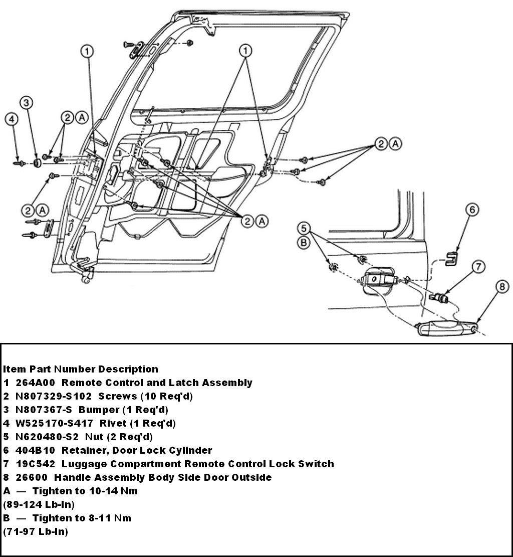 E150 Side Door Latch Diagram