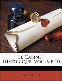 le cabinet historique volume  french edition