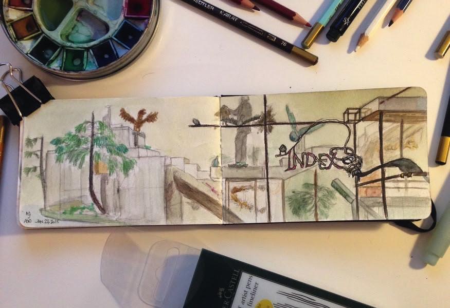 AGO Art Gallery of Ontario Installation David Altmejd The Index Urban Sketching