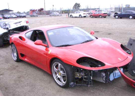 Ferrari F1 360 Modena Spider For Sale Wrecked Repairable