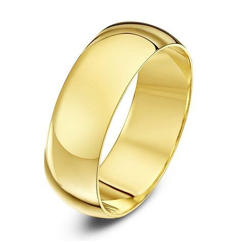 9kt Yellow Gold Heavy D 7mm Wedding Ring