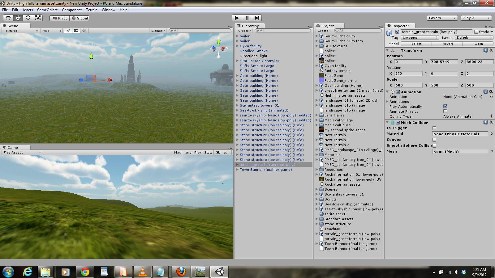 Screenshot of demo so far