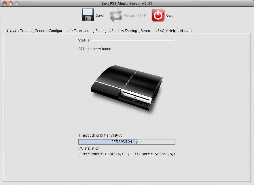 برنامج مجانى لنقل الملفات من جهاز الكمبيوتر الى جهاز PS3 بلاي ستيشن 3 PS3 Media Server 1.81.0