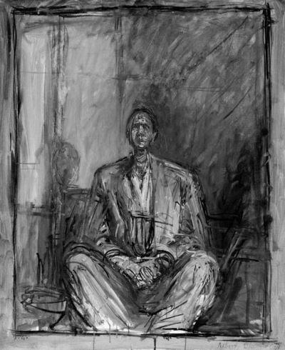 alberto giacometti: Portrait de Jean Genet, 1954-1955