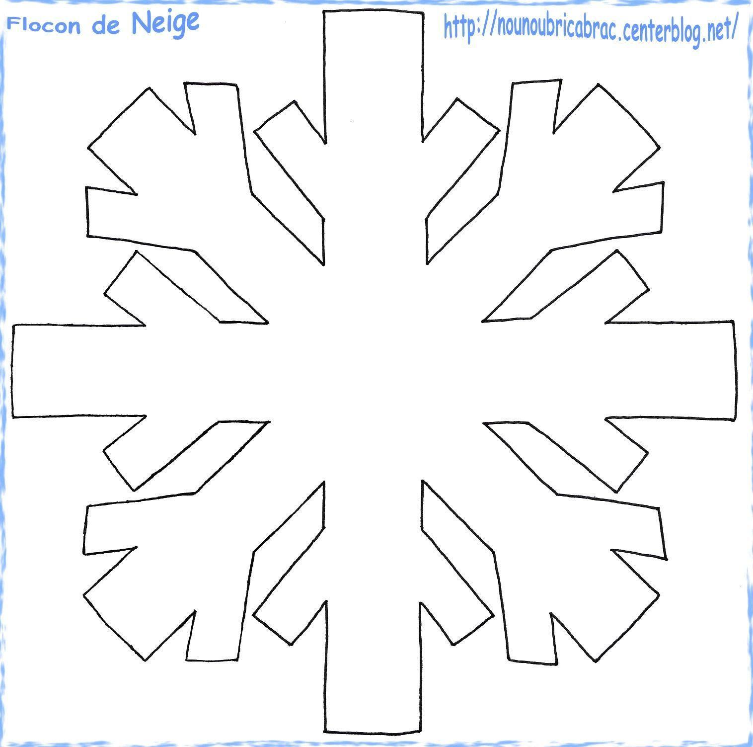 Flocon de Neige  colorier ou pour d autres activités