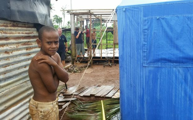 Villagers near Lautoka try to rebuild but have to face another cyclone.