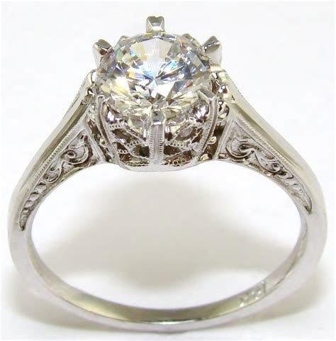 Diamond Crown Engagement Ring   The Jewelers Guild
