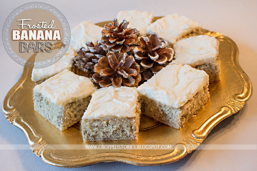 Frosted Banana Bar Recipe via Cropped Stories
