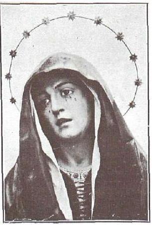Dolorosa de Pedro de Mena en 1928 en la Iglesia de San Andrés