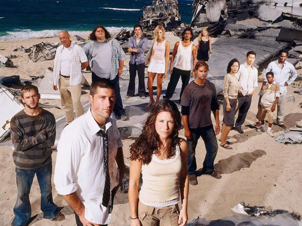 Os atores de 'Lost' em imagem promocional da primeira  temporada da série.