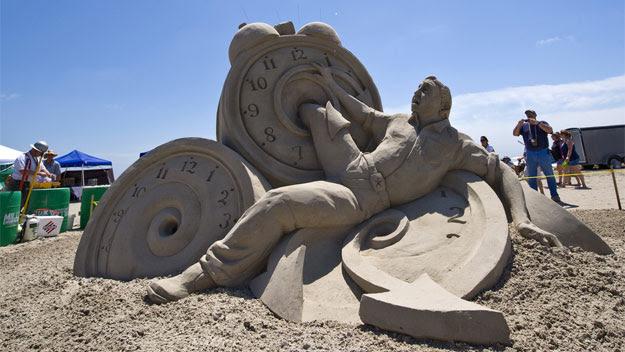 Sand sculpture at Texas SandFest