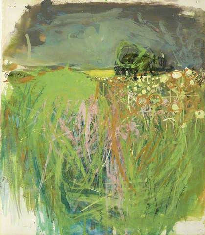 Joan Kathleen Harding Eardley: Hedgerow with Grasses and Flowers