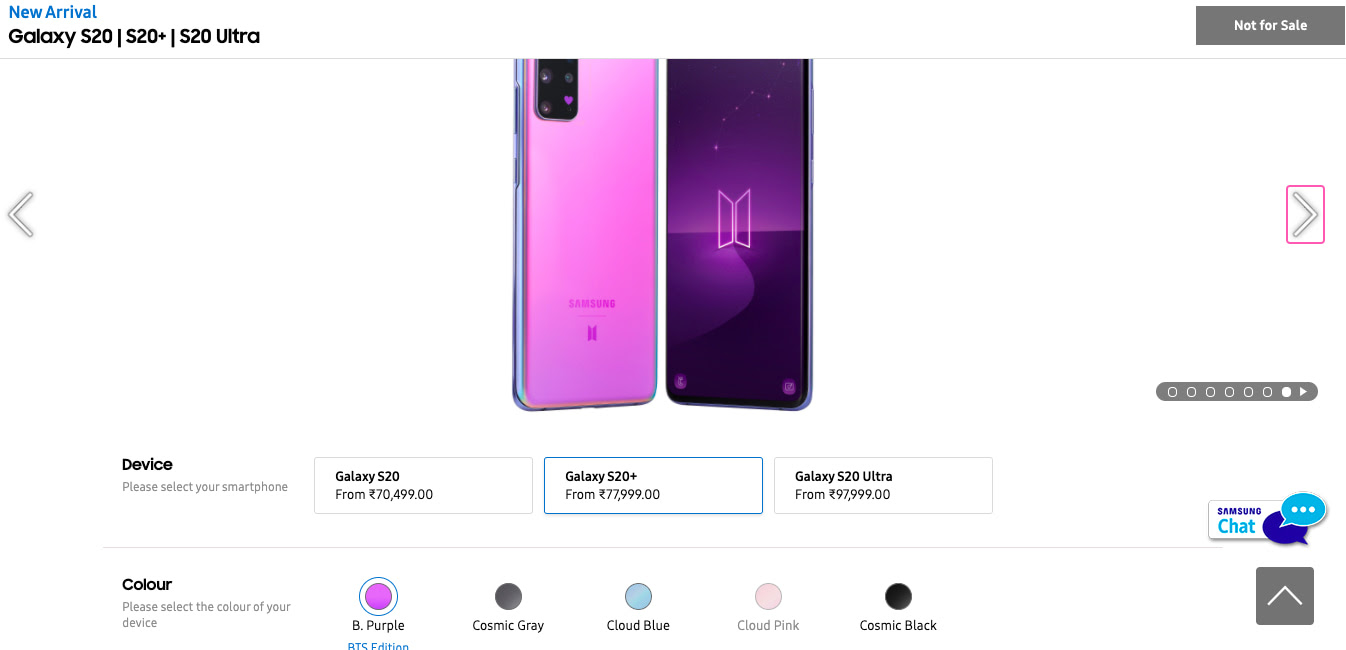 Samsung Galaxy S20 Plus Galaxy Buds Plus Bts Edition Now Available For Pre Booking In India Cloud Web World
