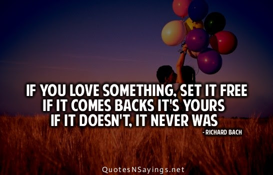 If You Love Something Set It Free If It Comes Backs Its Yours