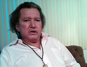 Marinho Chagas, ex-lateral do Botafogo, em entrevista ao GLOBOESPORTE.COM (Foto: Augusto Gomes/GLOBOESPORTE.COM)
