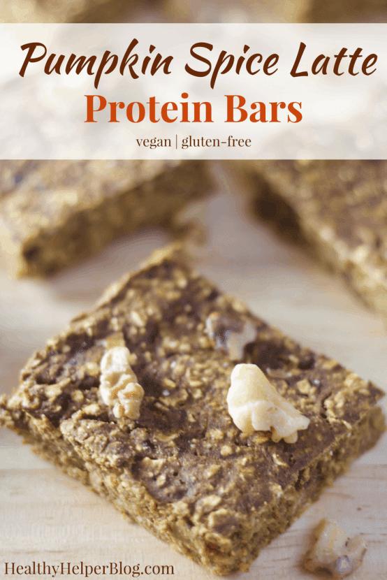 Pumpkin Spice Latte Protein Bars [vegan + gluten-free ...