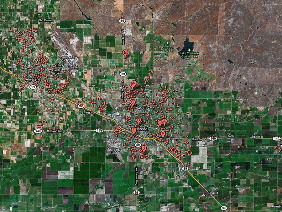 Merced, Calif. -- 1 in 14 homes in foreclosure