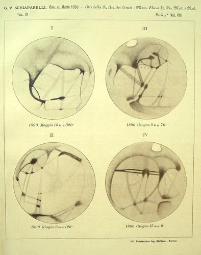 Particolari della superficie di Marte, 1890 Giovanni Schiaparelli